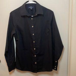 Long Sleeve Button Up Black Shirt Land's End